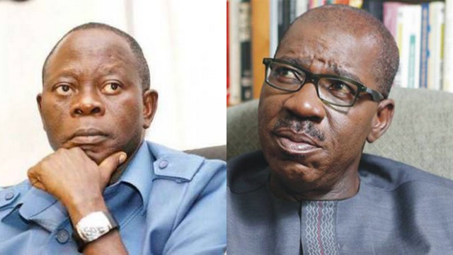 This image has an empty alt attribute; its file name is oshiomole-vs-obaseki.jpg